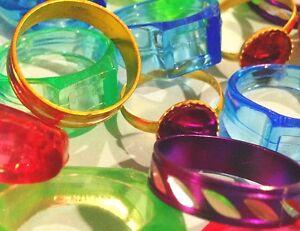 Lot-100-Kid-039-s-Rings-Assortment-Children-039-s-jewelry-trinket-CarNival-prize-dentist