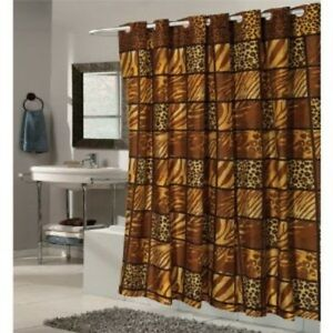 Ez On Fabric Shower Curtain W Built In Shower Curtain Hooks Wild