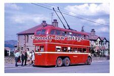 gw0435 - Huddersfield Trolleybus no 633  in 1968 - photograph