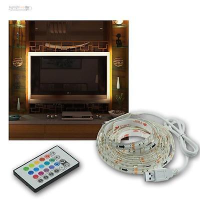 TV rétro-éclairage 2 Pièces RGB DEL Barre Télécommande Bloc d/'alimentation de contrôle