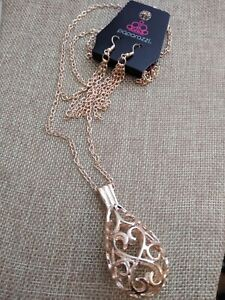 Nwt Paparazzi Magic Potions Rose Gold Earring Necklace Set Only 5 Ebay