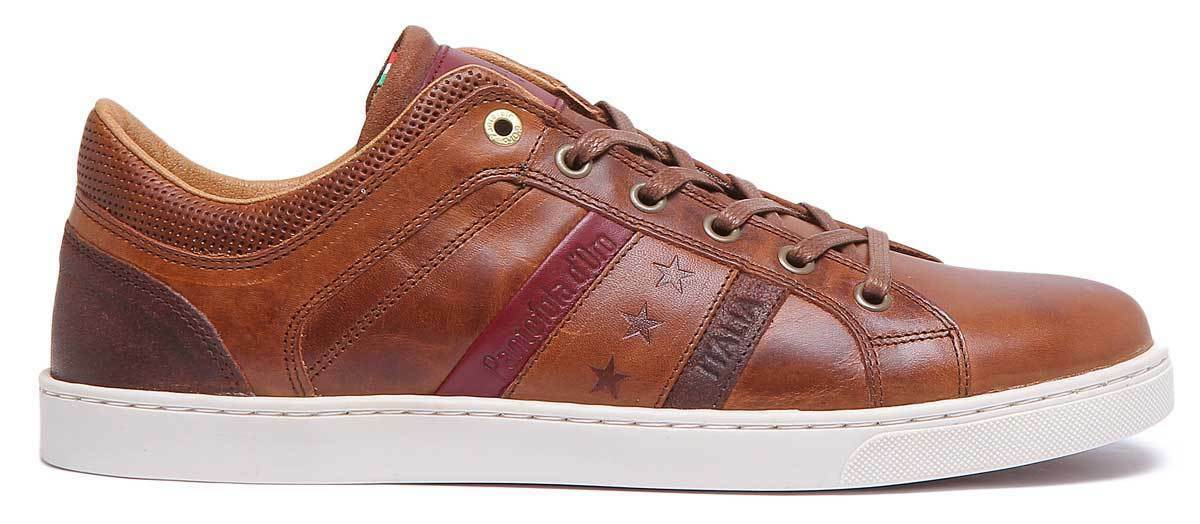 Pantofola d'Oro Enzo Uomo Men Leather Tan Trainers Trainers Trainers 02dd1e