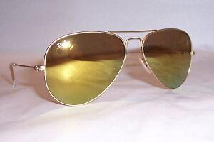 083b95ba52 NEW RAY BAN AVIATOR Sunglasses 3025 112 93 GOLD GOLD MIRROR 58MM ...