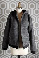 T By Alexander Wang French Terry Zip Up Hoody Small S Jacket Nylon Trim Black