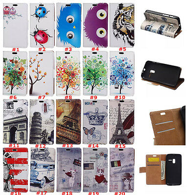 Leather wallet pouch flip stand case skin cover For Huawei Honor 7