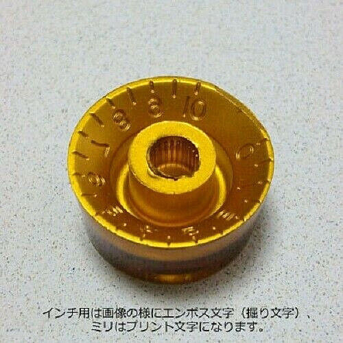 Gold Speed Knob Embossed Numbers Montreux Selected fit Split Shaft Pots