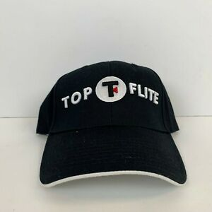Image is loading New-Top-Flite-Golf-Logo-Strapback-Hat-Black- f57c8bee01a