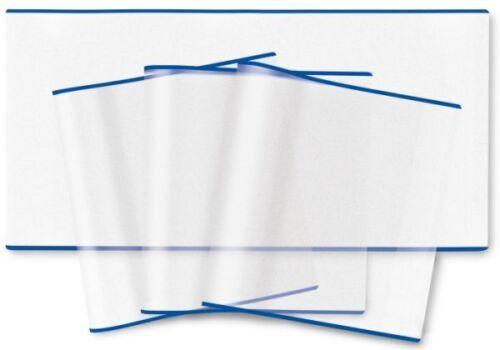HERMA Buchschoner 300 x 540 mm transparent  blauer Rand Heftschoner Einband