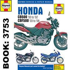 Honda Cb500 1993-2002 Cbf500 2003-08 Haynes Manual de taller