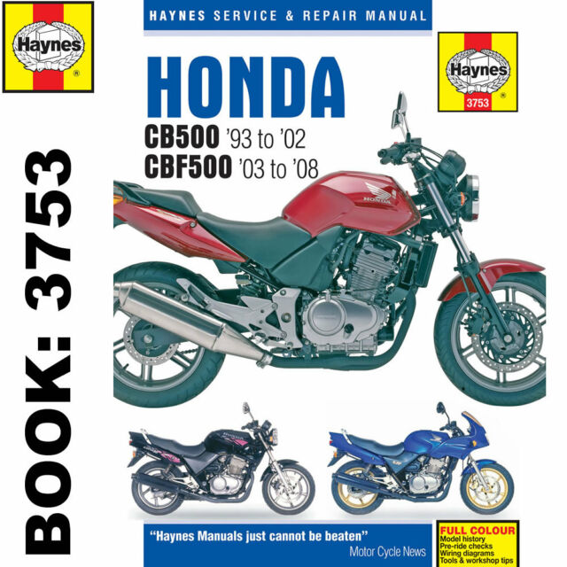 honda cb500 93 08 haynes repair manual 3753 ebay rh ebay co uk manuale honda cb 500 s manuale honda cb 500 s