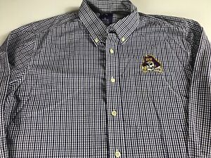ECU-Pirates-Long-Sleeve-Shirt-Mens-XL-East-Carolina-Plaid-Student-Alumni-Pocket