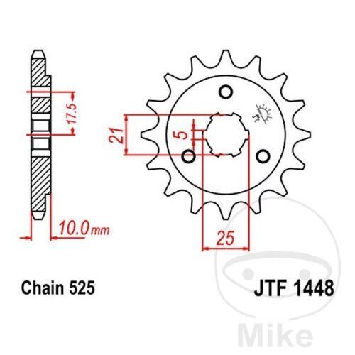 JT Front Sprocket 14T 525 Pitch JTF1448.14 Suzuki DR 650 SE 1996