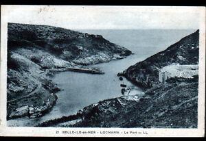 LOCMARIA-BELLE-ILE-en-MER-56-VILLAS-amp-BATEUX-au-PORT-en-1939