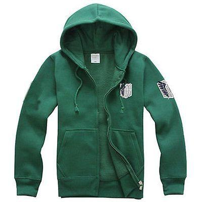 Hoodie Attack on Titan Shingeki no Kyojin Scouting Legion Cosplay Coat Jacket