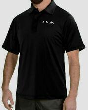 Huk Performance Fishing Black Polo Shirt M New NWT Ret $49.99