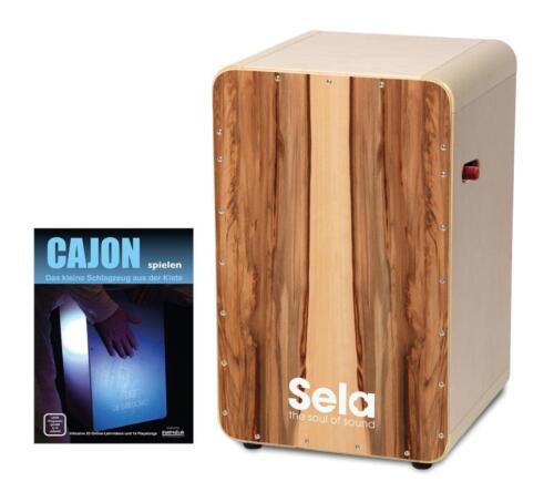 SELA CASELA PRO CAJON SATIN NUSS SNARE ON//OFF MECHANIK CAJON SCHULE NOTEN SET