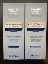 Equate Beauty Acne Foaming Cleanser 5 5 Oz 10 Benzoyl Peroxide For