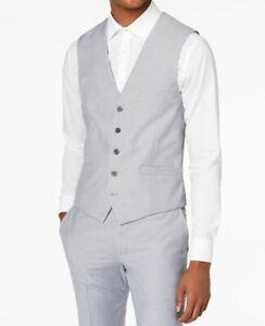 INC Mens Suit Seperates Gray Size Medium M Vest Slim Fit Button-Front $59 092