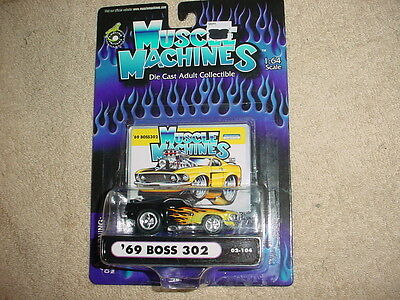 MUSCLE MACHINES 69 BOSS 302 02-104 FLAMED FREE USA SHIPPING