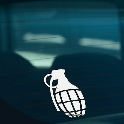2x GRENADES Bomb Car,Van,Window,Bumper JDM DUB VAG DRIFT Vinyl Decal Stickers