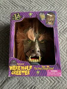 RARE-Gemmy-Halloween-Animated-Door-Greeter-Werewolf-Sings-034-I-039-m-Your-Boogie-Man-034