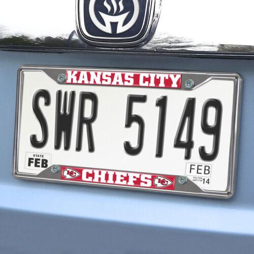 NFL Kansas City Chiefs Metal License Plate Frame