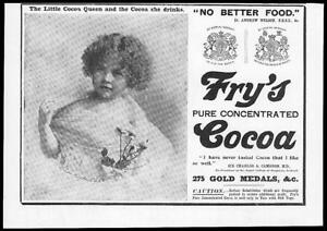 1899-Antique-Print-Advertisement-Frys-Pure-Concentrated-Cocoa-Queen-38