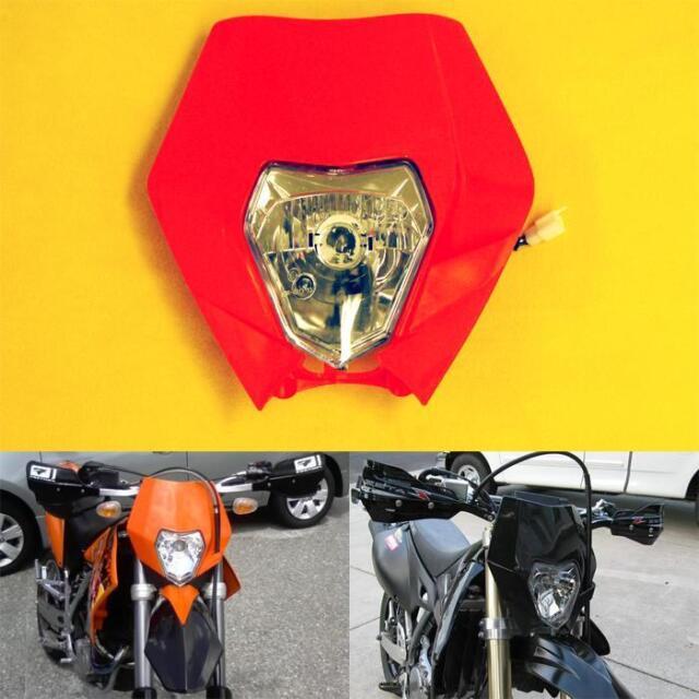 Yellow Black Supermoto LED Motorcycle Headlight Fairing