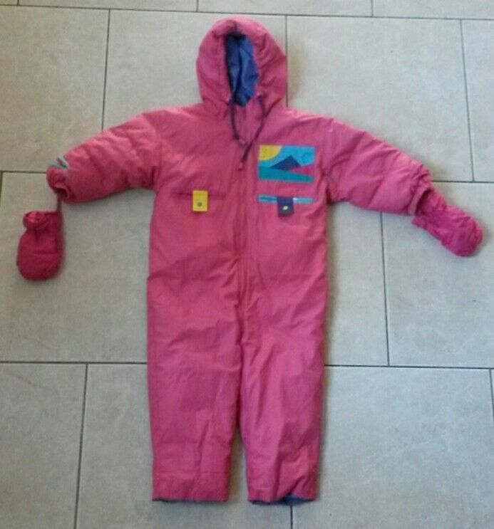 RARE snow suit,DOWN insulated,snowproof,BRAMBILLA France girl 18-24mos  one piece  welcome to choose
