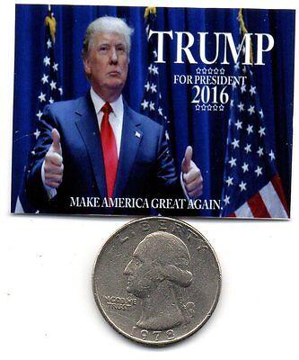 Dollhouse 1:12 scale Miniature Donald Trump Election 2016  Poster