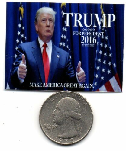 Dollhouse 1:12 scale Miniature Donald Trump Election 2016  Poster