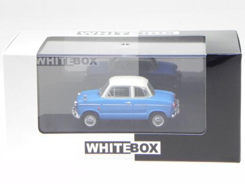 NSU Prinz II 30E 1959 blau weiss Modellauto WB281 Whitebox 1:43