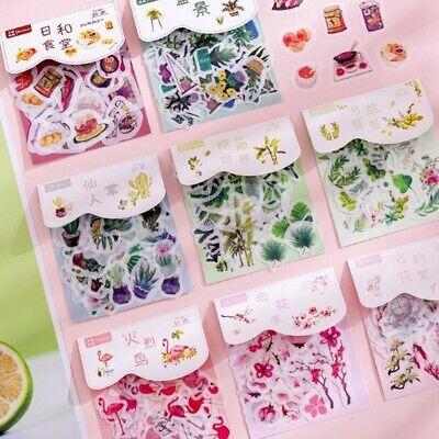 40pcs DIY Paper Diary Flower Stickers Korean Japanese Journal Scrap booking