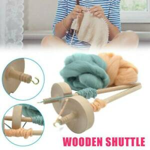 Drop-Spindle-Top-Whorl-Yarn-Spin-Hand-Carved-Wooden-Tool-Gift-for-Beginners