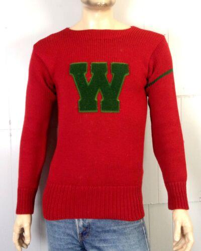 vtg 30s 1933-1935 NRA Tag Letterman Varsity Sweate