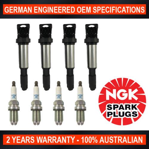 4x Genuine NGK Platinum Spark Plugs /& 4x Ignition Coils for BWM 316i 318i