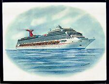 Original Art Work ...ms CARNIVAL CONQUEST...CCL... cruise ship