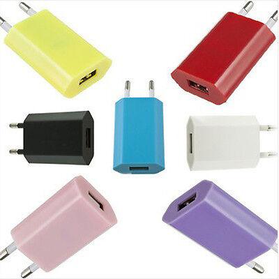 EU Plug USB AC Power Chargeur Adaptateur Pr iPhone 3G 3GS 4 4S 5 5S 5C Touch 4 5