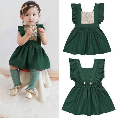 Christmas Sequins Tutu Dress Girls Baby Kid Toddler Xmas Party Princess Dresses
