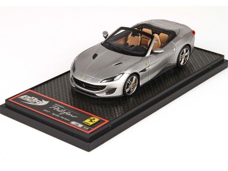 BBR Models 1/43 Ferrari Portofino Spider Alluminio Opaco Modellino