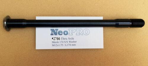 174mm BLACK Pitch 1.75 mm #2786 NeoPRO MAXLE Rear Hub Thru-Axle 142 * 12 mm