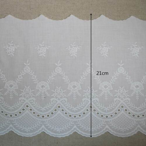 """YH1323 laceking2013 21cm 1yard Broderie Anglaise Cotton Eyelet lace trim 8.2/"""""""