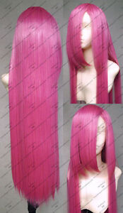 Rosario-Vampire-Akashiya-Moka-100cm-Rose-long-droit-Cosplay-perruques