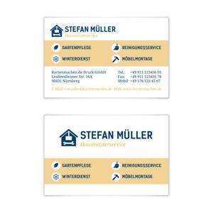 Visitenkarten individuell Business Karten 300g/qm 85 x 55 mm - Hausmeister