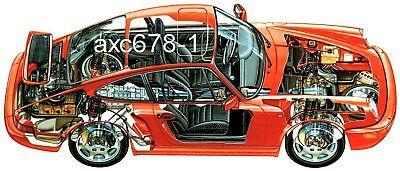 Bild Schnittzeichnung 1997 Porsche 911 Carrera 4