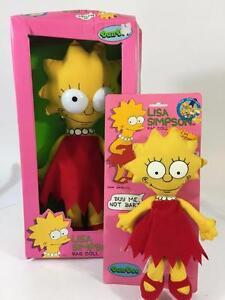 "Lisa Simpson Vtg Rag Doll Lot 2 Dan Dee 1990 15"" 10"" Buy Me Not Bart NRFB Plush"
