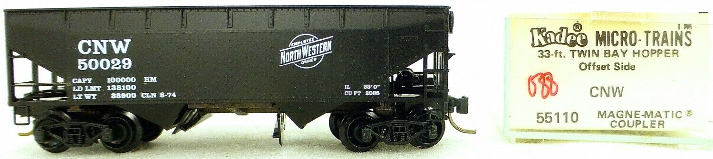 Micro Trains Line 55110 Cnw 50029 33' Twin Bay Hopper Ovp 1 160  K088 Å