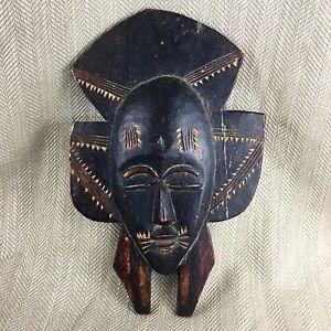 Antico-Africano-Maschera-Intagliato-di-Legno-Senufo-Kpelie-Tribale-Folk-Arte-il