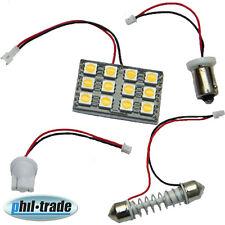 LED Panel warm weiß 12 x 5050 smd Adapter Ba9s h4w T10 w5w Soffitte 36 39 42 mm