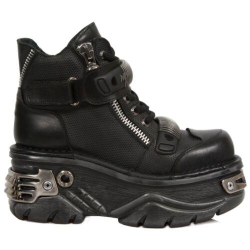 New Rock 1065 Newrock Boots Nr S1 Womens M Black vXHCq